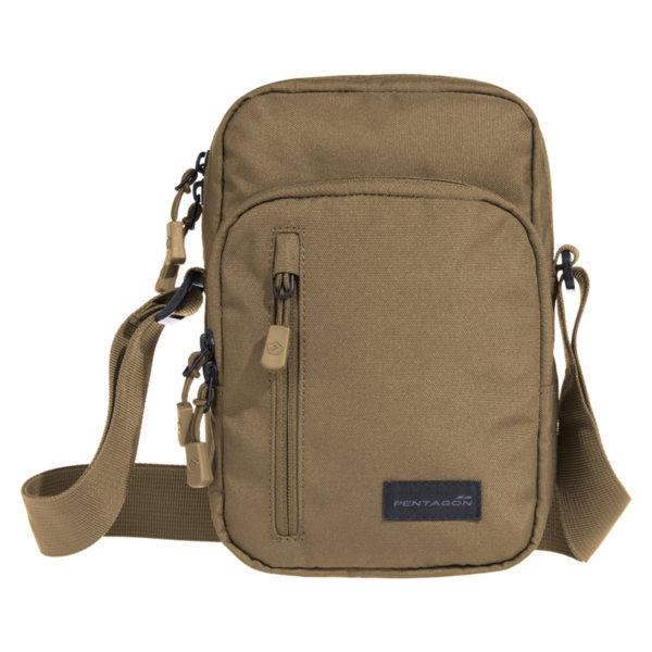 Раменна чанта Kleos - Кафява