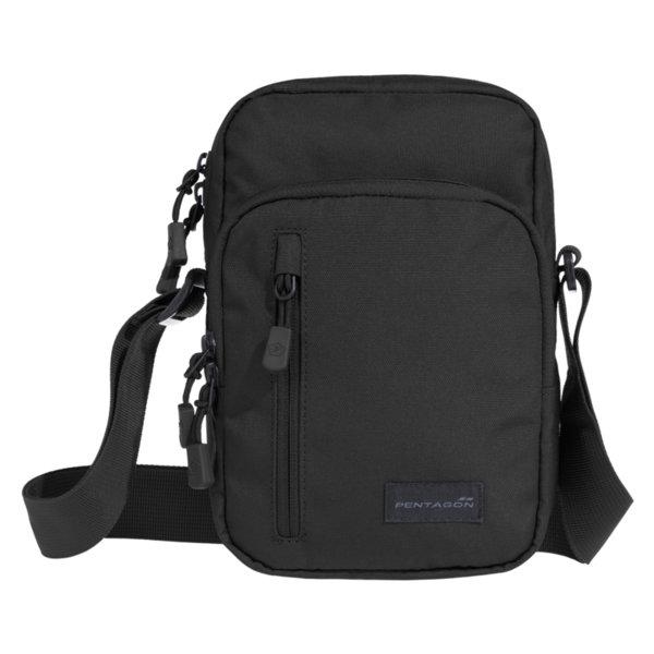 Раменна чанта Kleos - Черна