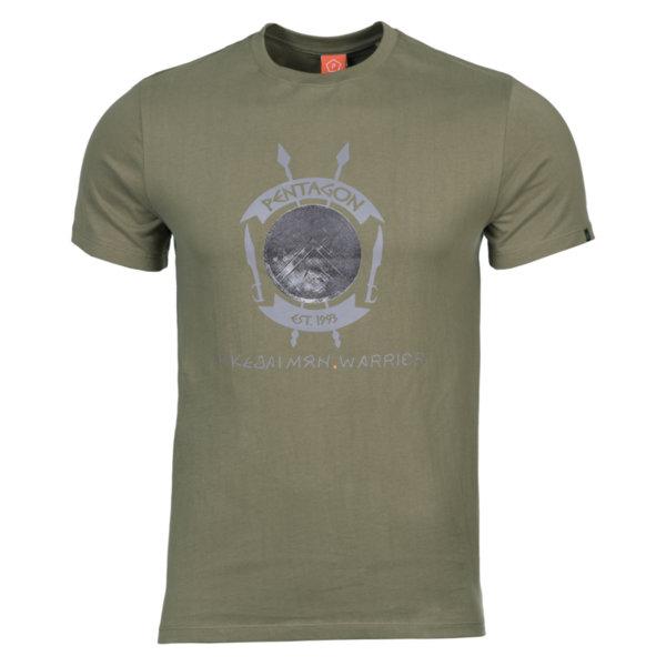 Тениска Lakedaimon Warrior - Зелена