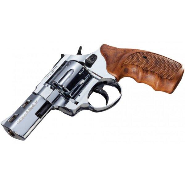 """Газов револвер R2-3"""" - полиран хром, cal. 9 mm"""