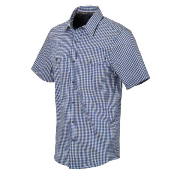 Риза с къс ръкав Concealed Carry - синьо каре