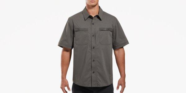Риза с къс ръкав Sofari Ops - сива, L