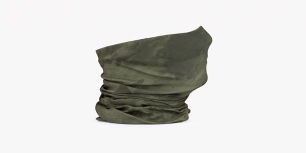 Тънък шал - зелен камуфлаж