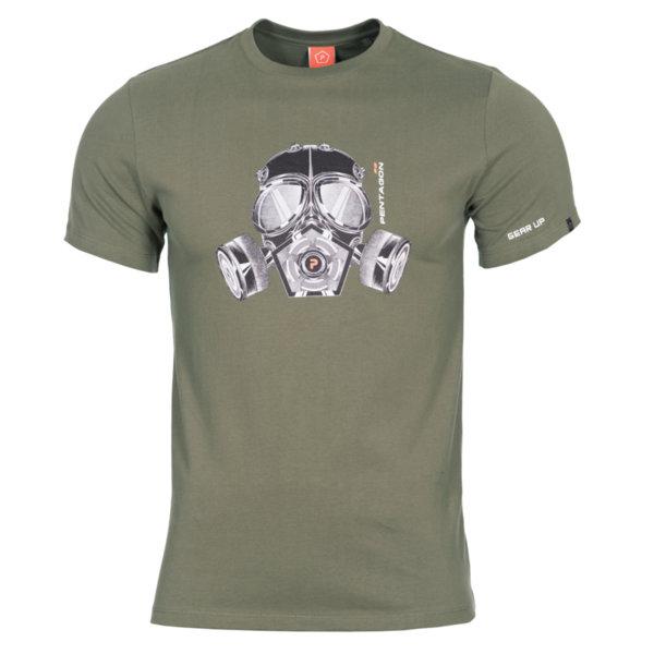 Тениска Gas Mask - Зелена