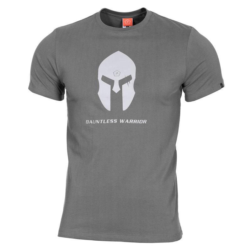 Тениска Spartan Helmet - Сива