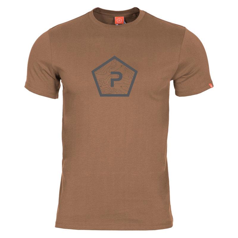 Тениска Pentagon Shape - Кафява