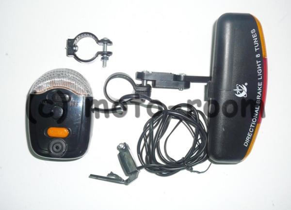 Сигнализация за велосипед/колело 4в1 - светлини, мигачи, стоп, сирена