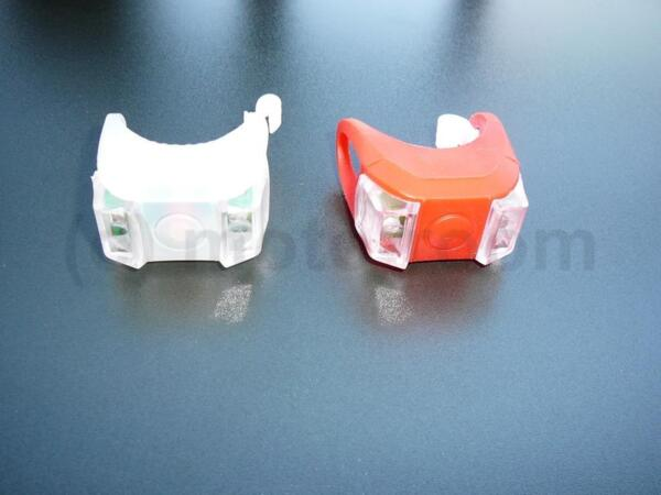 Комплект силиконови LED светлини, червена и бяла