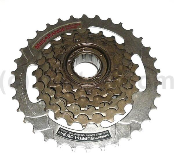 Венец-касета Shimano Super-Low MF-ZH 36-6 13-34T, на резба,  (Megarange)