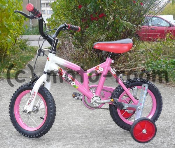 """Детско колело PLOP 12"""", стоманена рамка, розово"""