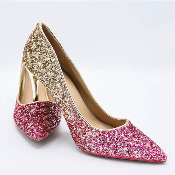 Обувки Сексът и градът розово омбре