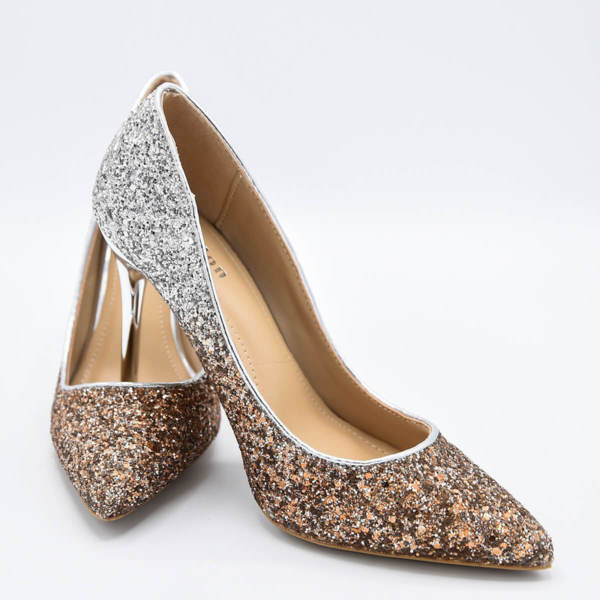 Обувки Сексът и градът златисто омбре