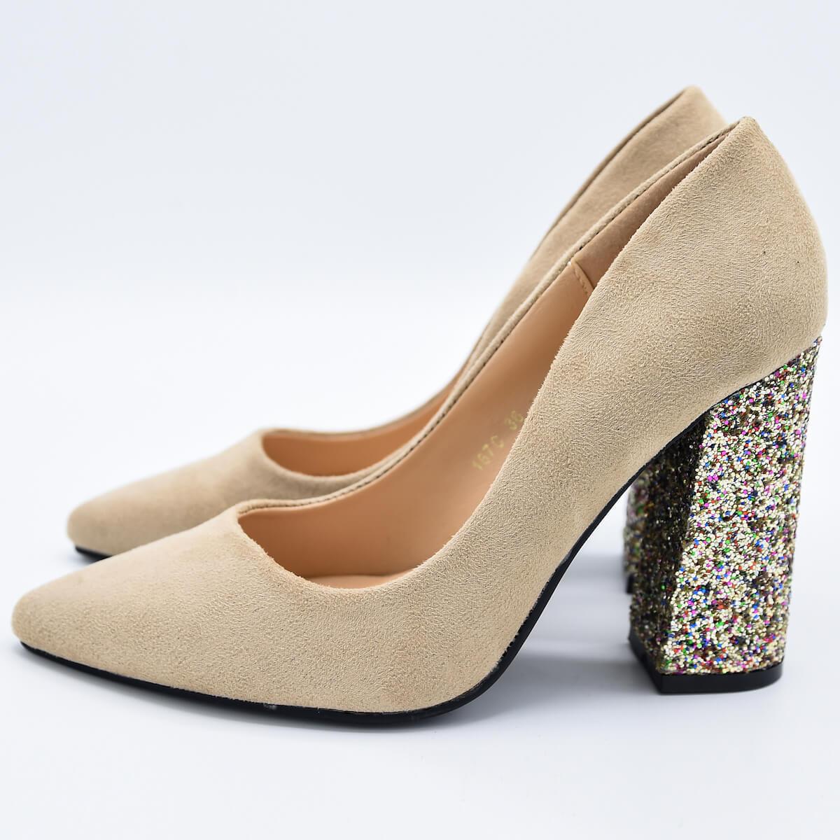 Обувки Шарлот бежови
