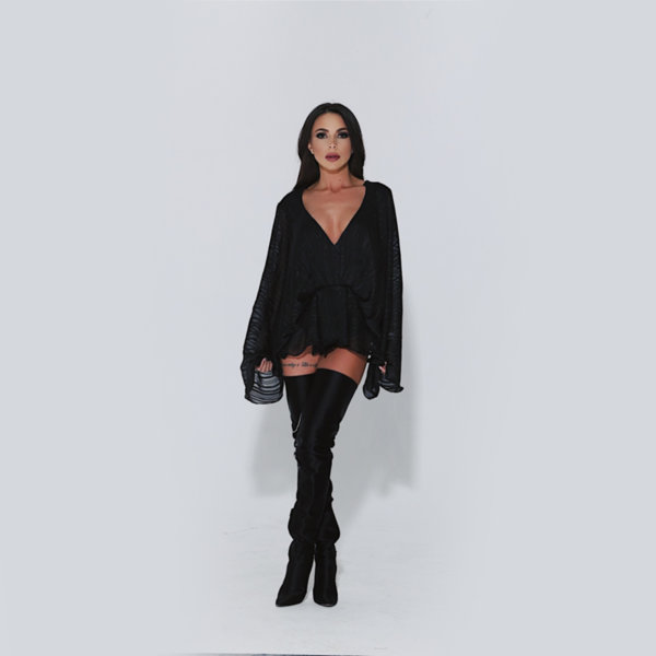 Блуза Черна роза