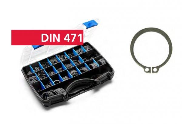 DIN 471 BL Зегерки за вал Е 5-E 45/1900бр/пл кутия