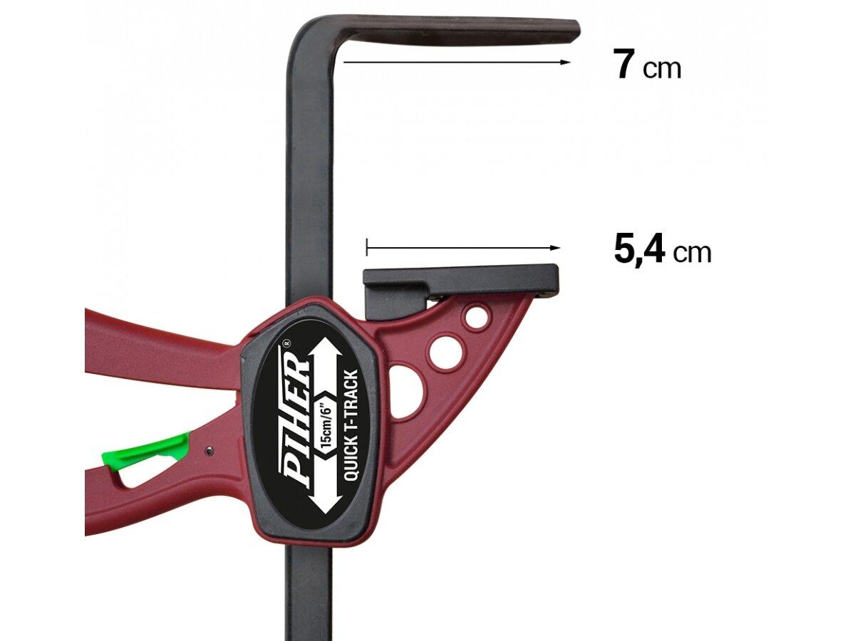 TQ-22 Стяга за отвори T-Track Quick 220x70-Piher