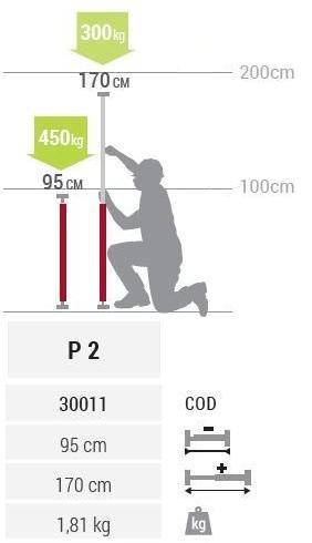 P2 Подпора Multiprop 950-1700мм-Piher