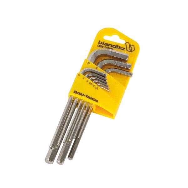 Ключове имбусни 1.5-10.0мм-удължени/9бр/-Bianditz