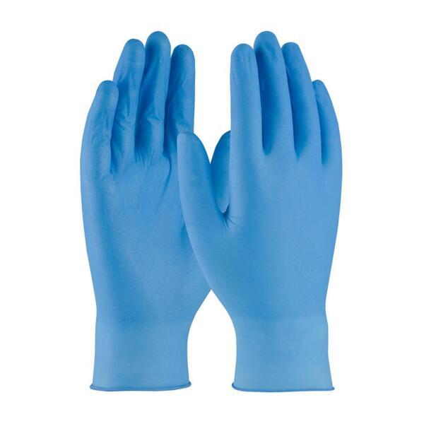 Нитрилни ръкавици за еднократна употреба - без пудра, сини