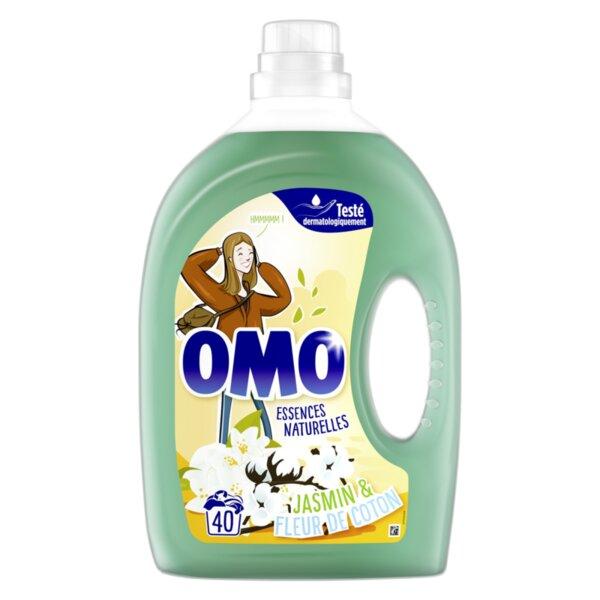 2 литра Френски течен перилен препарат OMO Jasmine за 40 пранета
