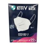 5 броя Защитна маска FFP3 NR за лице с клапа за многократна употреба