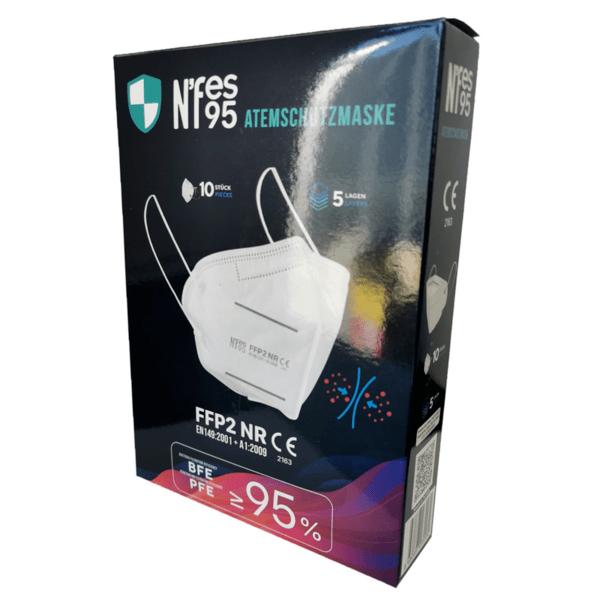 10 броя Защитна маска FFP2 NR за лице без клапа