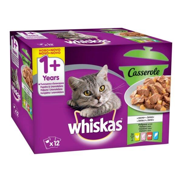 Храна за котки Whiskas Pouch Casserole Mix – Касерол Микс меню 12х 100гр.