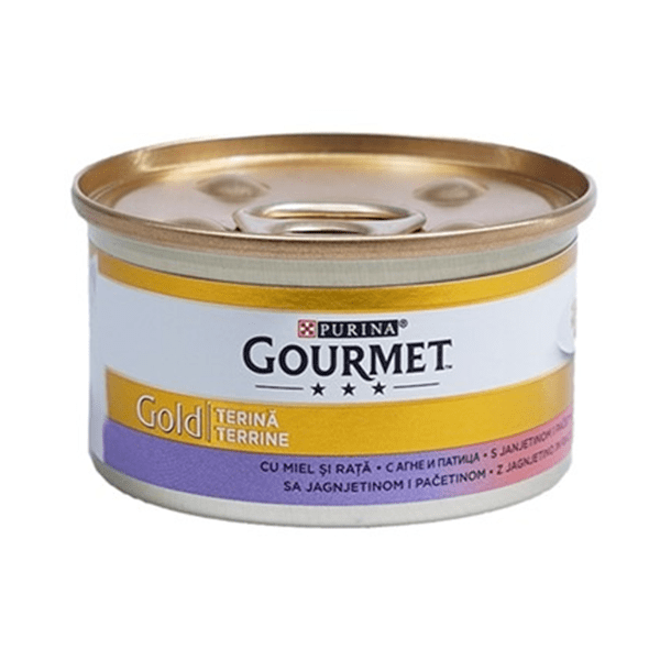 Храна за котки Gourmet Gold 85гр Хапки с агне и патица