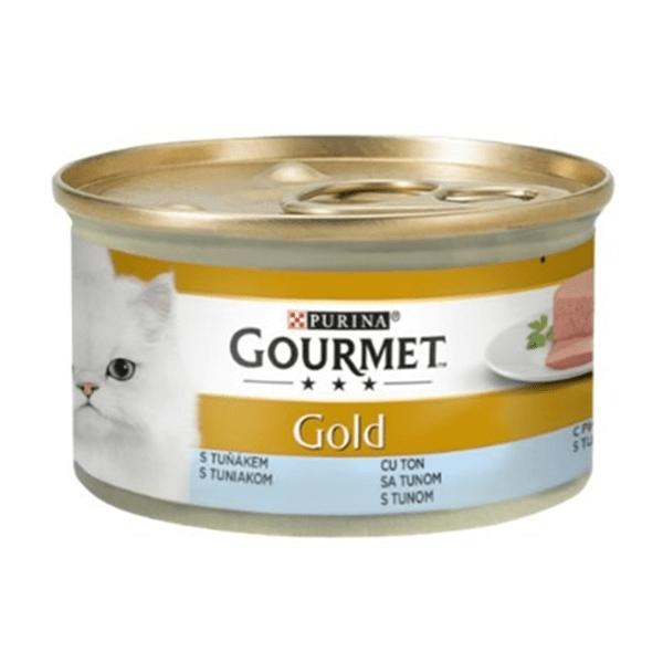 Храна за котки Gourmet Gold 85гр Пастет с риба тон