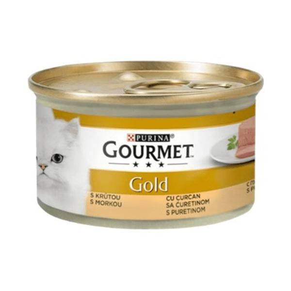 Храна за котки Gourmet Gold 85гр Пастет с пуйка