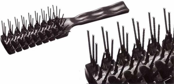 COMAIR четка за лесно разресване на косата, черен цвят