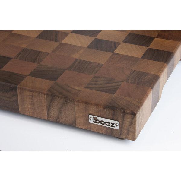 End Grain дъска за рязане Boaz от тъмна орехова дървесина Chef's Best Kitchen Board
