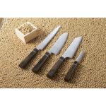 Кухненски нож Suncraft, Senzo Black, сантоку 16.7 см