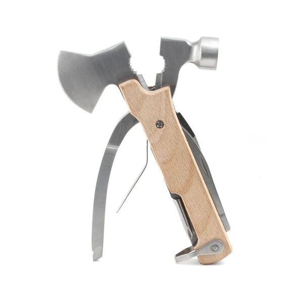 Мултифункционален инструмент Kikkerland - Wood Axe Multi Tool