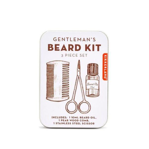 Комплект за брада Kikkerland - Gentleman's Beard Kit