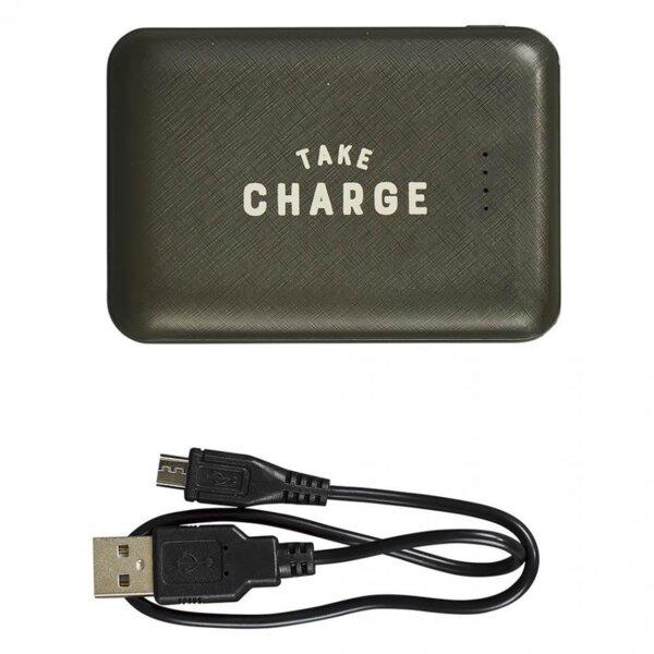 Външна батерия/power bank Gentlemen's Hardware - Take Charge, 10 000 mAh, 2x USB Type A, черна