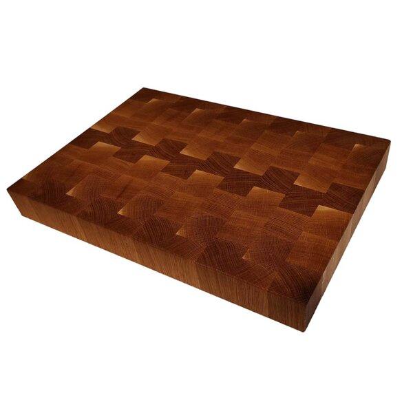 Кухненска end grain дъска за рязане , дъб 30/40/5 см