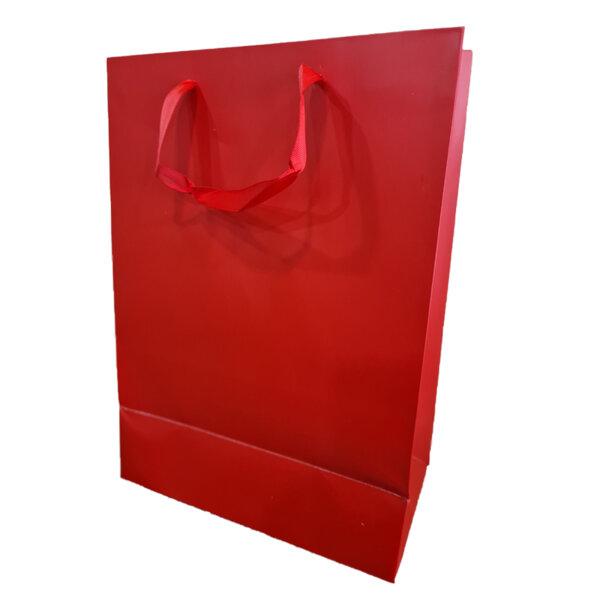 Подаръчно пликче Eurowrap - червено, 26 x 35.8 x 14 см