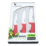 Ножове к-т LF FR-1730C, 3 ч, керамични, червен