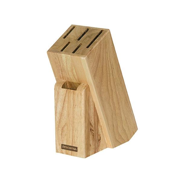 Дървена поставка Tescoma, за 5 ножа и прибор