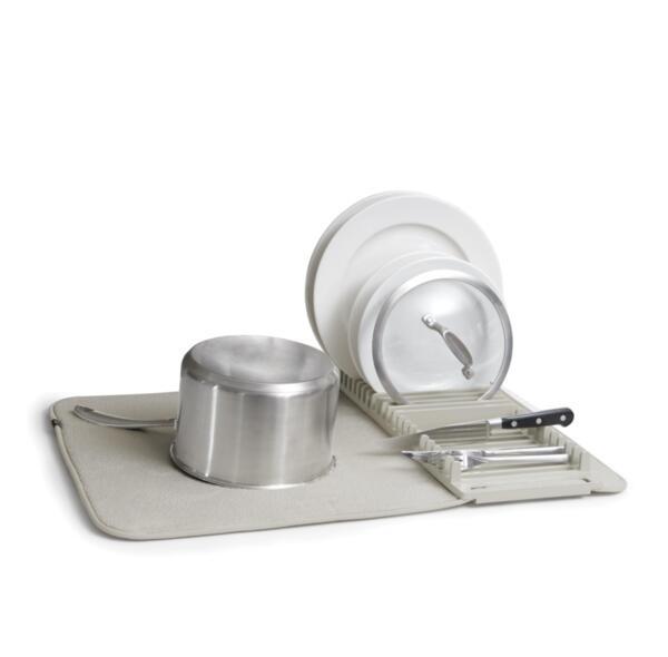 Сушилник за съдове Umbra - Udry, бързосъхнеща материя, сив