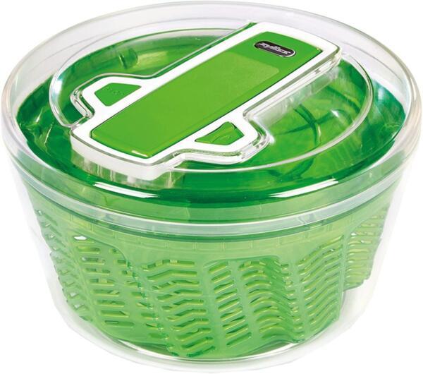 Центрофуга за салата Zyliss - 940013, 26см диаметър, зелена