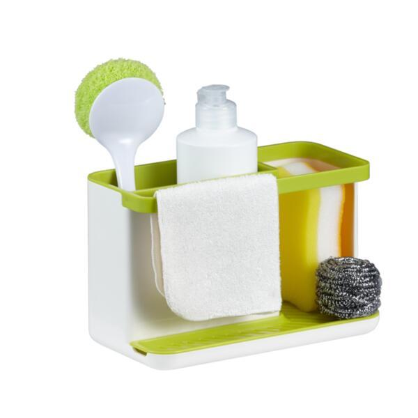 Органайзер за мивка Eko - 862329, бял-зелен