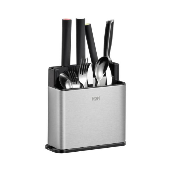 Поставка/органайзер Eko - 862699, за кухненски прибори, M размер, сребриста