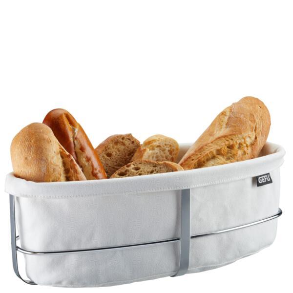 Панер за хляб Gefu - Brunch, текстил, бял