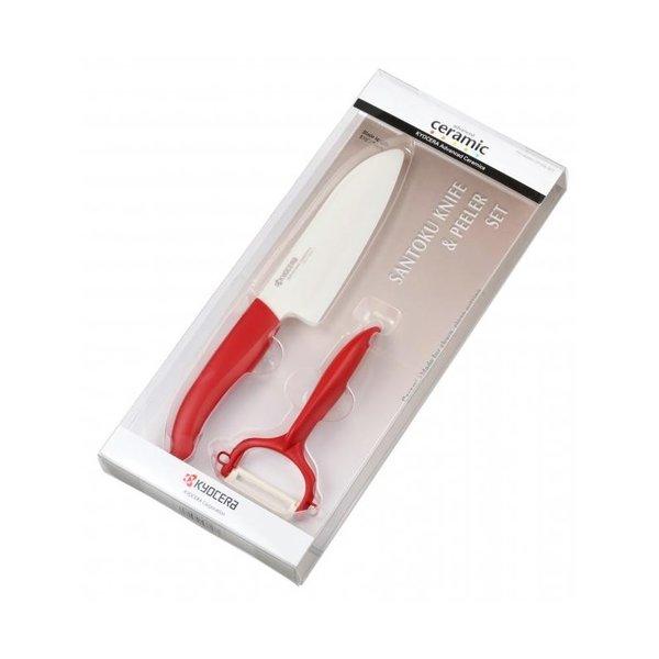 KYOCERA Комплект нож с белачка в кутия - червен