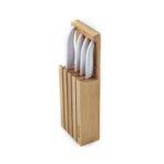 Комплект керамични ножове Kyocera с бамбуов блок