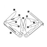 Многофункционален инструмент Leatherman Micra Blue