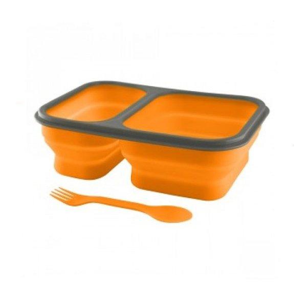 Сгъваема купа с две отделения, Оранжев цвят