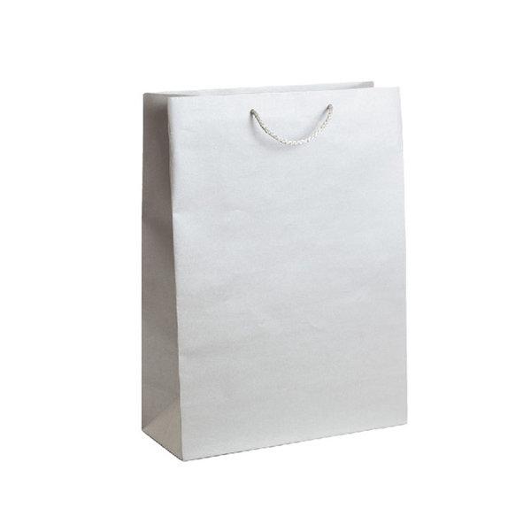 Подаръчен плик сребрист, размер XL